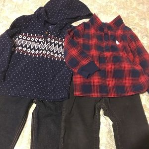 BOYS 3T BUNDLE 2 OUTFITS ALMOST NEW
